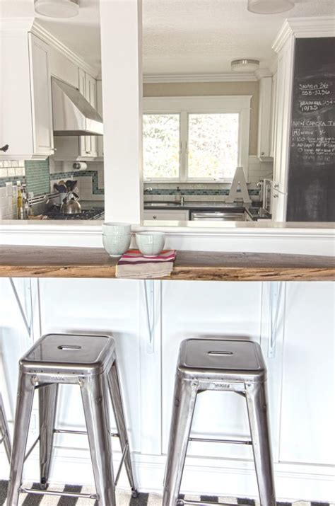 affordable  wall  kitchen  breakfast bar idea