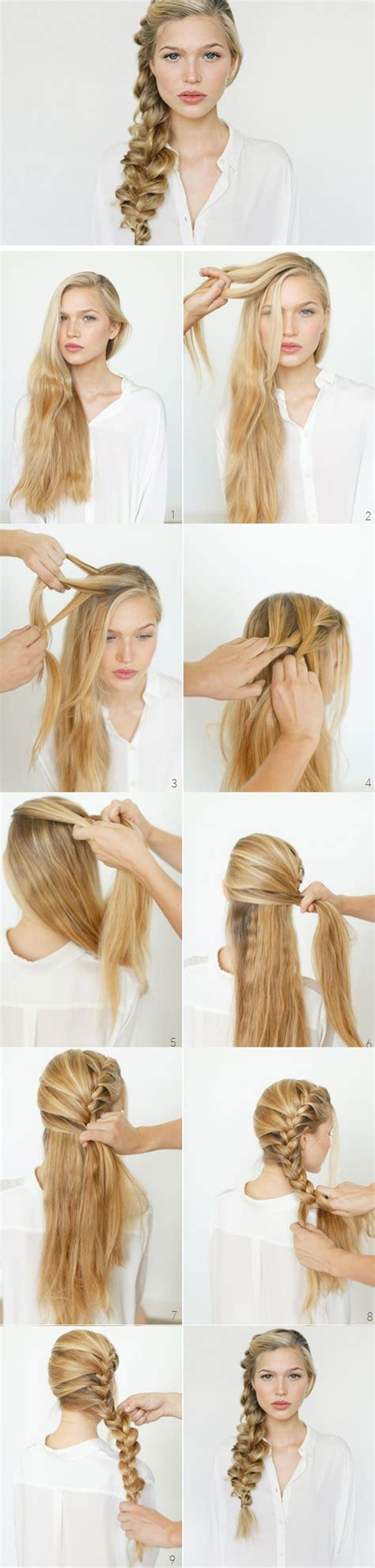 diy wedding hairstyles for medium hair 17 best images about day of school on fishtail braid easy hairstyles