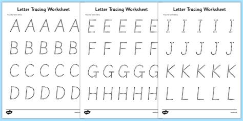 tracing pattern worksheets teacher
