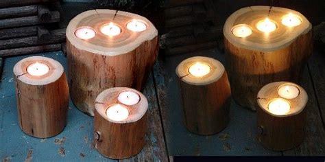 log candles moose  uscom black bear cedar log stump