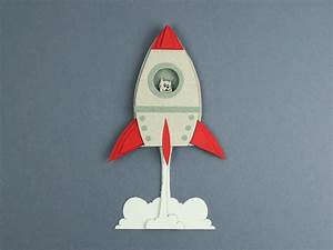 Animated Gif Designer Paper Rocket By Jordi Jansse Dribbble