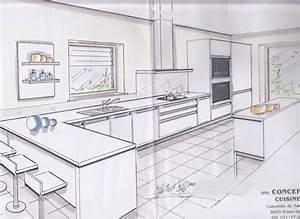 Plan De Cuisine 3d : dessiner sa cuisine petite cuisine moderne cbel cuisines ~ Nature-et-papiers.com Idées de Décoration