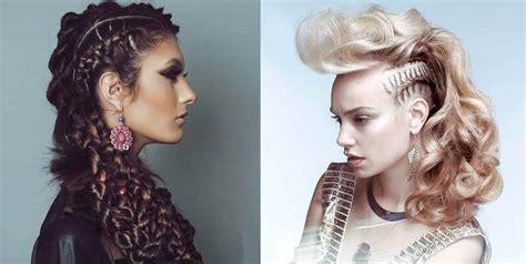 splendid undercut braids  women  rock  trend