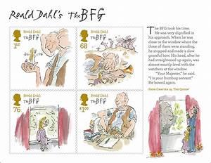 Roald Dahl Stamps Inspirational Geek
