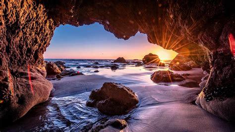 Malibu Sea Cave - El Matador State Beach wallpaper - backiee