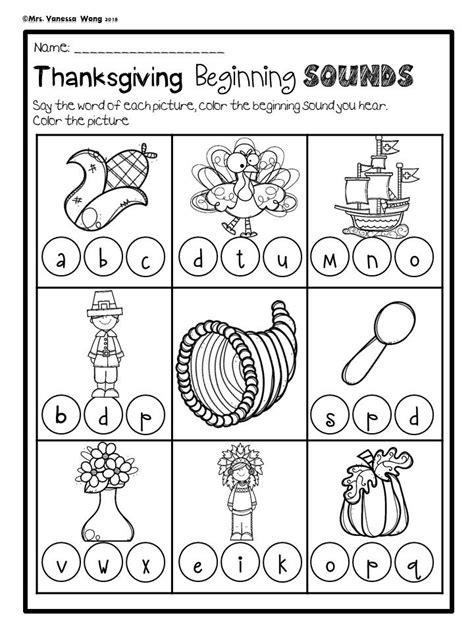 preschool printables thanksgiving printable no prep thanksgiving activities for kindergarten math and literacy