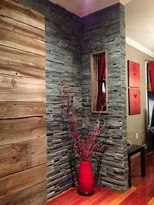 Mur Tv Bois : mur en bois de grange et ardoise design int rieur ~ Teatrodelosmanantiales.com Idées de Décoration