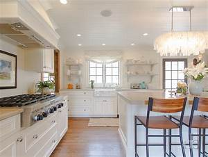 rectangular capiz chandelier over island cottage kitchen With kitchen colors with white cabinets with capiz shell wall art