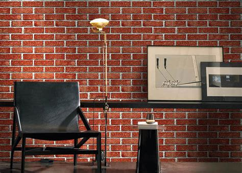 japanese style red brick wallpaper