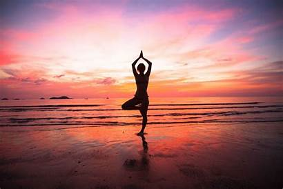 Yoga Nature Sunset Mother Woman Places Benefits