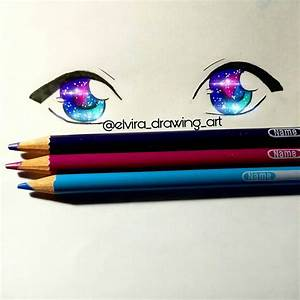 Galaxy pencil eye by ElviraDrawingArt on DeviantArt