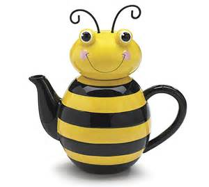 s day gift baskets teapot honey bee