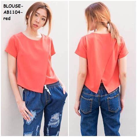 jual baju blus blouse kemeja crop tank top atasan kaos