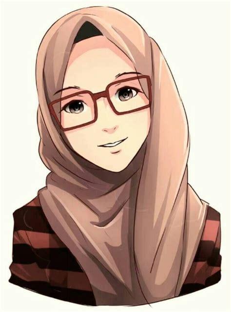 gambar kartun hijabers kekinian miki kartun