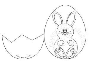 easter card template easter template