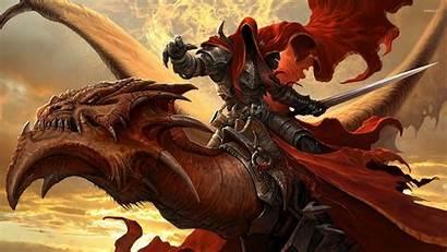Dragon Warrior Fantasy Background Wallpapers Dragons Desktop