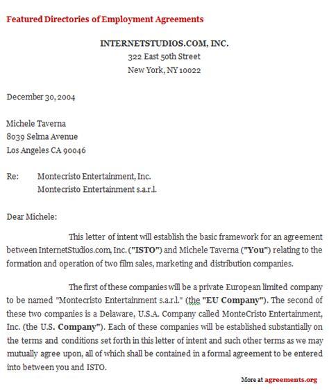 letter  intent agreement sample letter  intent