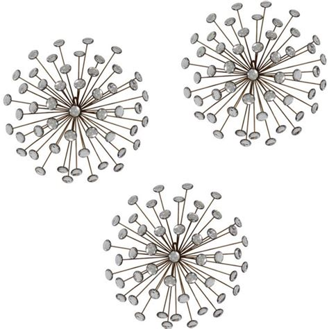1.5 out of 5 stars with 2 ratings. Stratton Home Decor Set of 3 Gold Burst Wall Decor ...
