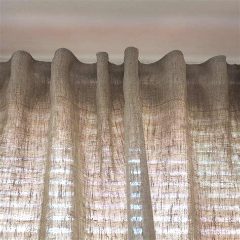 gardinen aus leinen leinen vorhang blickdicht natur braun
