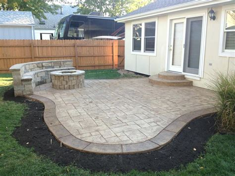 backyard cement patio ideas collection simple patio designs collection in simple outdoor patio
