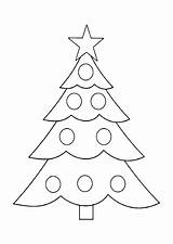 Tree Coloring Christmas Pages Printable Chrismas Holiday Molde Google sketch template