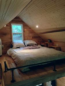 180 square foot tiny house with the open feel of a full With bed room for small house