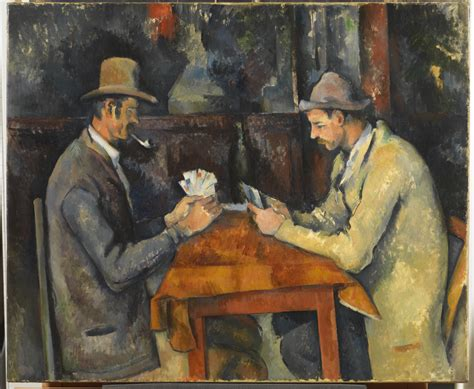 cezannes card players  courtauld institute  art