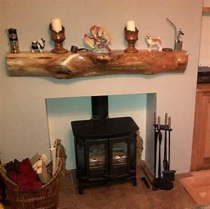 Elm Mantel Fireplace Rustic Wooden Sleeper Lintel Thomson
