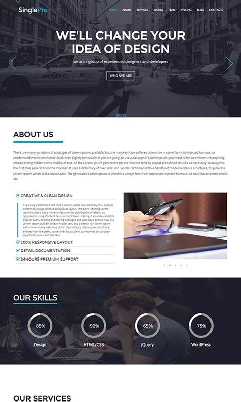 bootstrap html website templates february