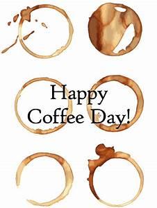 Coffee Art - Happy Coffee Day Card | Birthday & Greeting ...