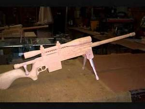 tactical rifles and sniper rifles made from wood - YouTube