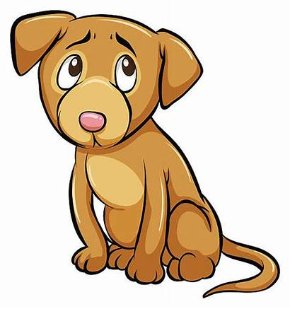 Dog Vector Scared Cartoon Clip Sad Puppy