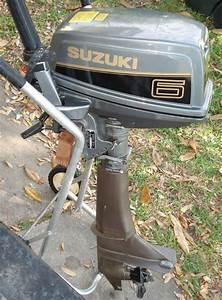 Used Suzuki 6 Hp Outboard Boat Motor Long Shaft