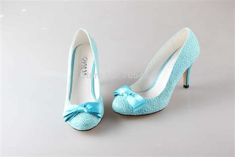 light blue wedding shoes bs761 free shipping custom handmade light blue lace bowtie shoes bridal wedding shoes in