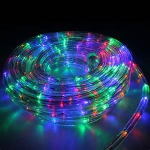 Rope light led m multi colour christmas lighting outdoor