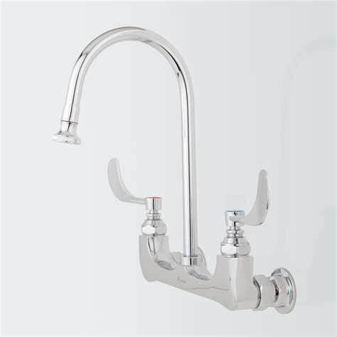 Delta Wall Mount Kitchen Faucet With Sprayer