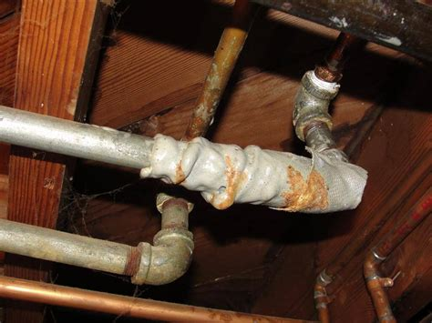 galvanized pipes testing water flow   houses homesmsp