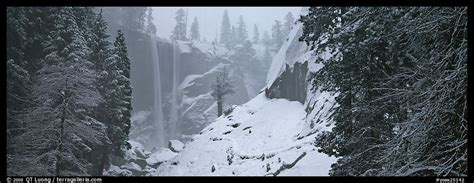 Panoramic Picture Photo Vernal Fall Winter Fog