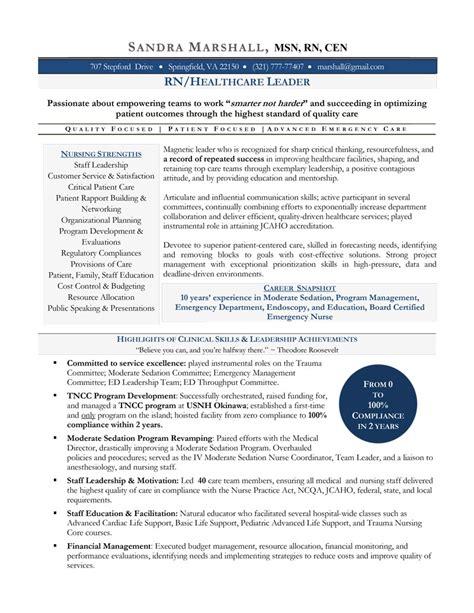 nursing resume sles resume service certified