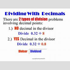Understanding Division And Dividing With Decimals  Ppt Download