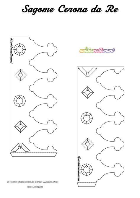 disegni re da colorare disegno corona da re da stare ritagliare colorare