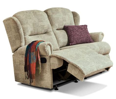 Recliner Settee by Malvern Small Fabric Reclining 2 Seater Settee F L