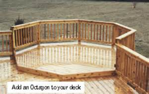 8 octagon deck building plans only at menards 174