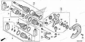 Honda Atv 2013 Oem Parts Diagram For Front Knuckle  4wd