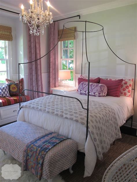 Anthropologie Italian Campaign Canopy Bed  Contemporary