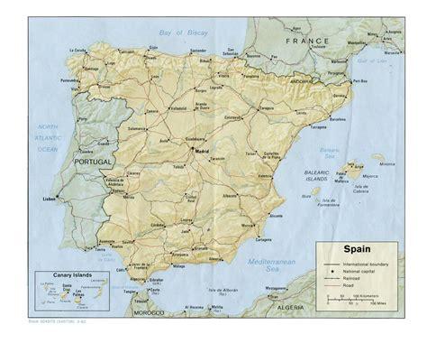 spanien fläche spanien landesübersicht einwohnerzahl fläche landkarte