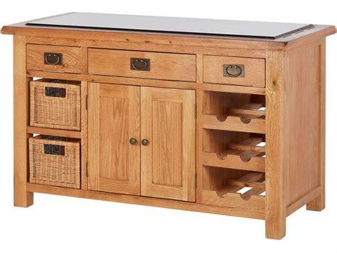 fairfax oak kitchen island  stone top lee longlands