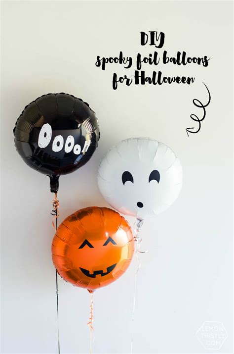 diy spooky foil balloons  halloween lemon thistle