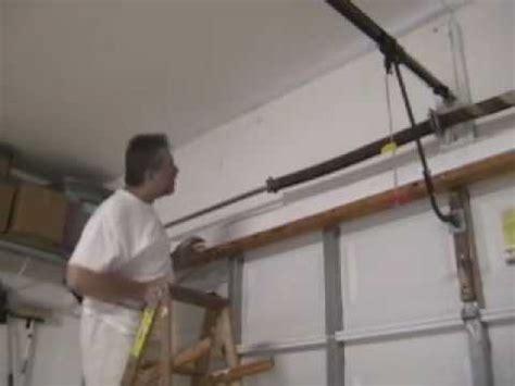how to tighten torsion on garage door bam garage door the door torsion snapped how