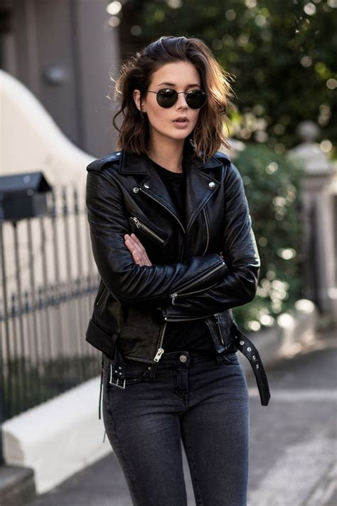 All Black Outfits With Leather Jacket 2018 | FashionTasty.com